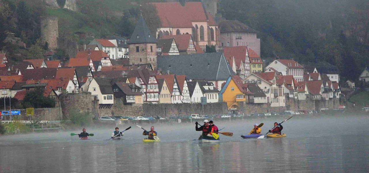 Paddeln vor den Toren von Heidelberg